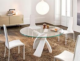 Comedores de cristal modernos mesas de comedor modernas for Comedores redondos modernos